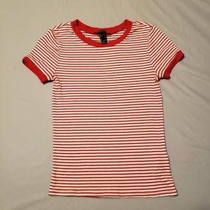 Forever 21 Striped Ringer Shirt (Vintage Inspired)